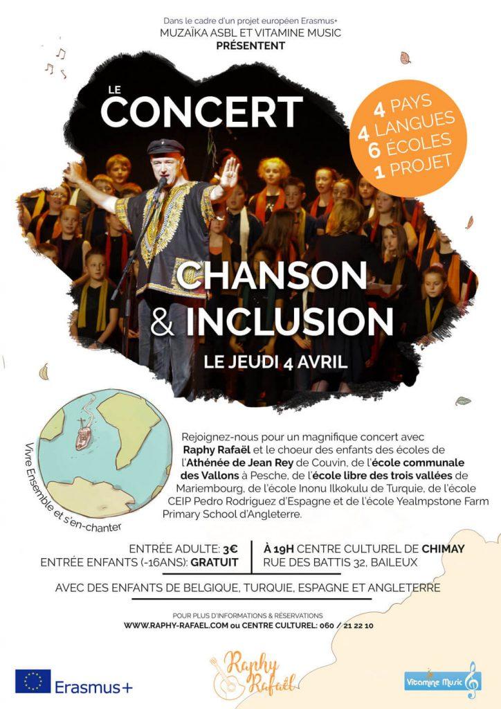 Affiche du concert de Raphy Rafaël à Chimay