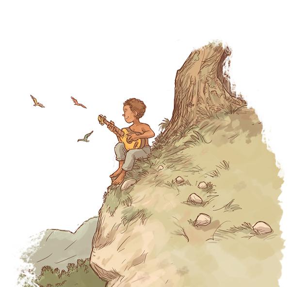 Illustration du CD Plus loin plus beau - Raphy Rafaël, chanteur pour enfants