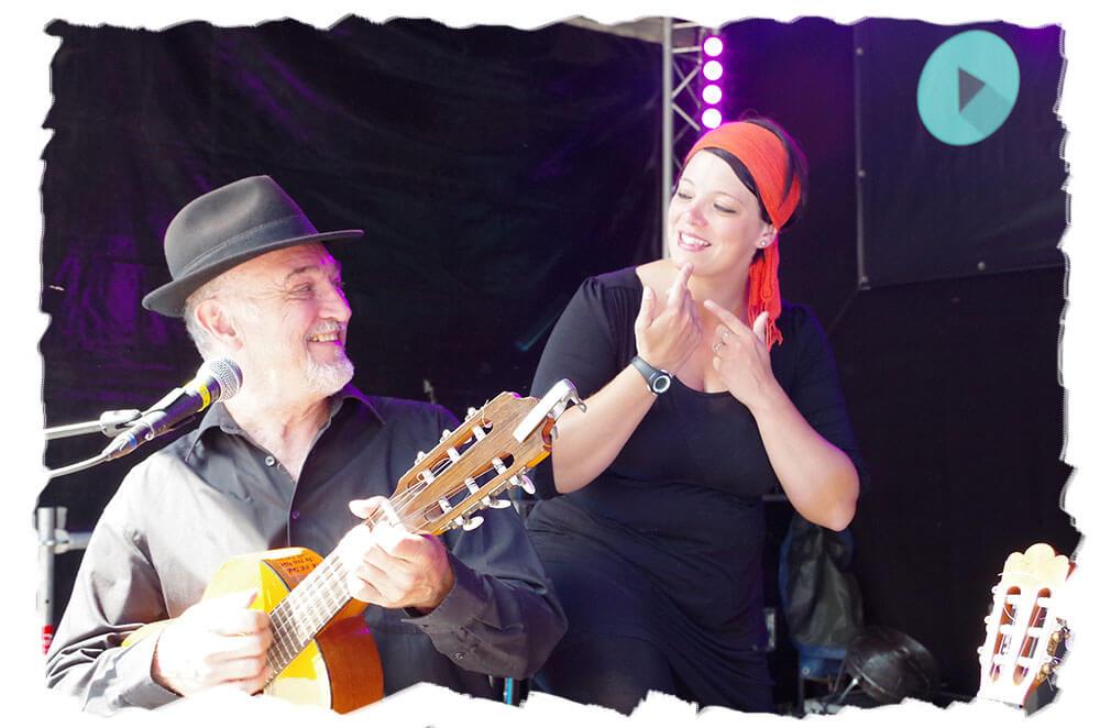 Spectacle Chant Signe avec le chanteur Raphy Rafael et Cindy Baraté